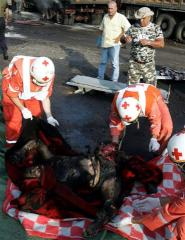 burnt corpses of two Lebanese civilians
