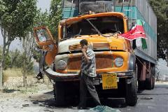 truck with UAE aid hit afp